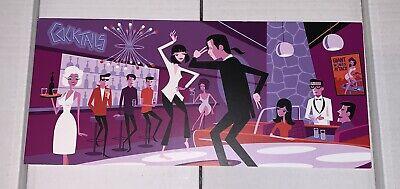 "SHAG Josh Agle - Pulp Fiction ""You Never Can Tell"" PROMO AD Art Card | eBay"