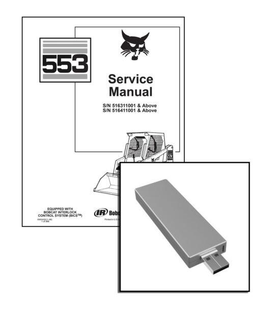 Bobcat 553 Skid Steer Loader Service Manual Shop Repair