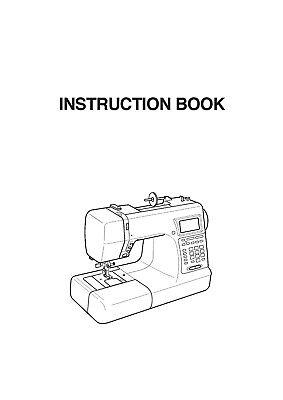 Janome Memory Craft 5200 Manual Reprint Of Instructions
