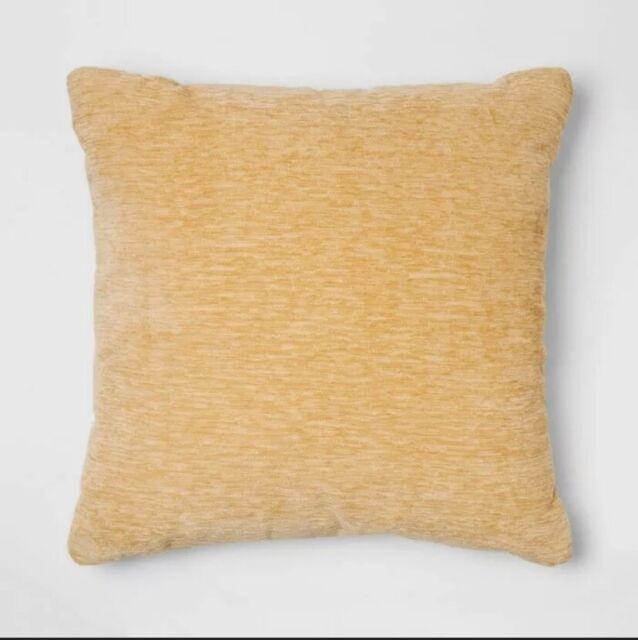 yellow chenille square throw pillow threshold