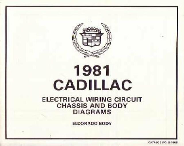 OEM Repair Maintenance Wiring Schematics Bound Cadillac