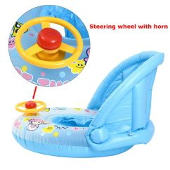 Baby Blow Up Ring Chair Portable Wheel Ramp Swim Inflatable Toddler Float Kid Swimming Pool