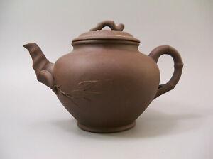 Chinese Yixing Zisha Clay Bamboo Shape Teapot