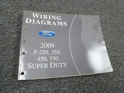 2009 ford f250 super duty truck electrical wiring diagrams manual xl xlt  lariat  ebay