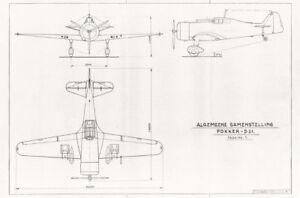 Fokker D.XXI D.21 Manual WW2 Dutch Fighter Plane Warbird