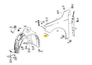 Genuine Mercedes-Benz A Class W176 Front Right Fender