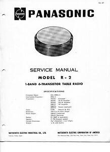 Vintage Panasonic SERVICE MANUAL- Model R-2 1-Band 6