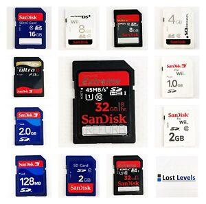 Nintendo Wii San Disk SD Memory Card *Multi Listing* 1GB / 2GB / 4GB / 8GB / 32G | eBay