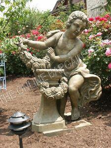 frontgate garden pool yard statue