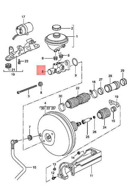 Genuine PORSCHE 911 Boxster Carrera 986 996 Brake Master