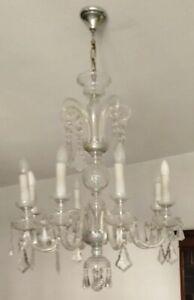 lampadario sterling cristallo a sette punti luce 2 485.90 eur più su lampade. Vintage Anni 60 Lampadario In Cristallo Di Boemia In Perfetto Stato Ebay