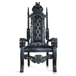 Black Gothic Throne Chair Graco High Cover Uk 178cm Lion King For Prop Movie Showhouse Club Hotels