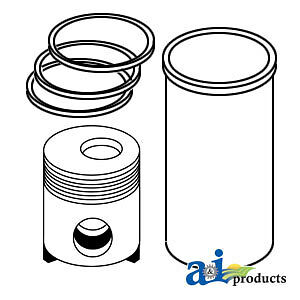 John Deere Parts PISTON LINER KIT RE20291 890A,890,862