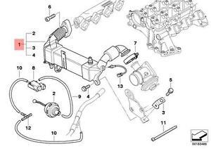 Genuine BMW E70 E70N E90N 335d X5 EGR Exhaust Gas Cooler