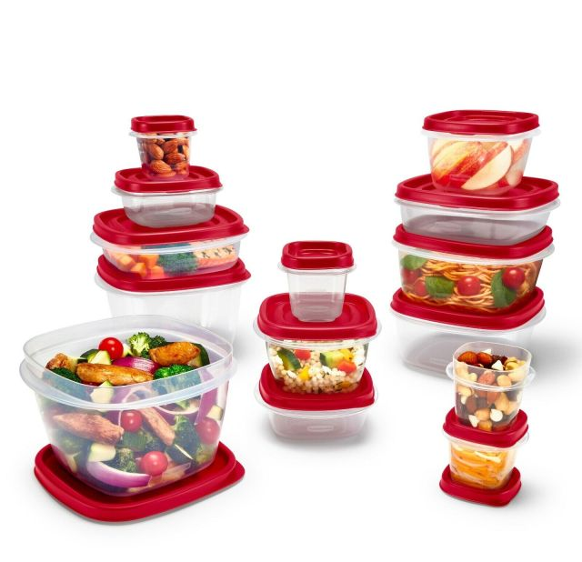 Rubbermaid Food Storage Containers Easy Find Vented Lids Home Kitchen 24 Pieces 2