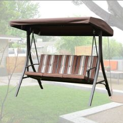 Swing Chair Seat Bouncing For Babies Patio 3 Person Outdoor Garden Hammock Canopy Awning Gazebo W Removable Cushion