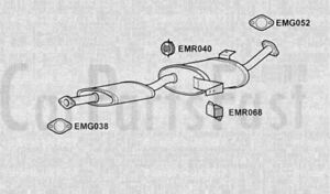 EXHAUST SILENCER to fit NISSAN TERRANO II (R20) 2.7 TD 4WD