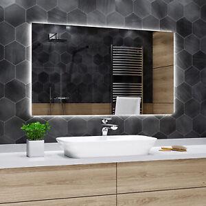 Moderne Miroir Salle Bain Avec Eclairage Dubai Kf01 Miroir Led Sur Mesure Ebay