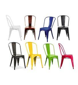 details sur snug chaises vintage style tolix en metal industriel galvanise metal metallise