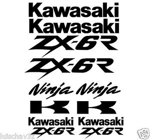 Kawasaki Ninja ZX-6R Decal Sticker Graphics Decals