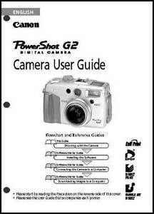 Canon Powershot G2 Digital Camera User Guide Instruction