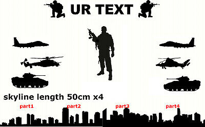soldier stickers personalised skyline military army tank