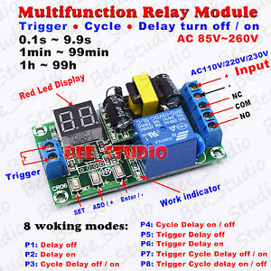 30a 250v Wiring Diagram Ac 110v 220v 230v Digital Led Cycle Delay Turn On Off