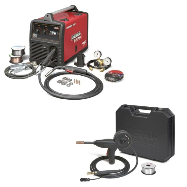 Lincoln Power Mig 180c Mig Welder Pkg With Spool Gun K24732 K3269