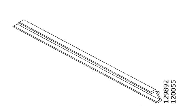 2x IKEA GUIDE RAILS FOR TROFAST FRAME PLASTIC, WHITE PART