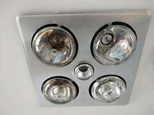 details about bathroom 3 in 1 ceiling light 4 heater exhaust fan silver heat lamp