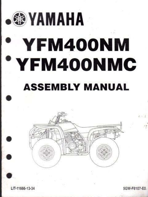 2000 YAMAHA ATV 4 WHEELER YFM400NM & YFM400NMC ASSEMBLY
