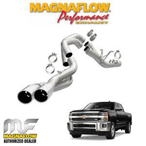 详情 magnaflow 4 dpf back dual exhaust system 2017 2018 chevy duramax 6 6l v8 17871
