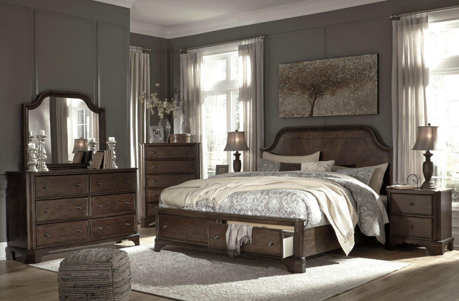 Ashley Furniture Adinton Queen Panel 6 Piece Storage Bedroom Set For Sale Online
