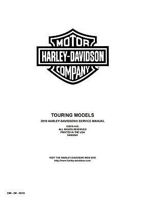 2019 Harley Davidson Touring Service Manual FLHR FLTRX