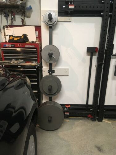 titan wall mounted 4 peg olympic bumper plate weight rack storage
