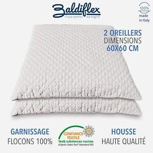 2x oreiller memoire de forme 60x60