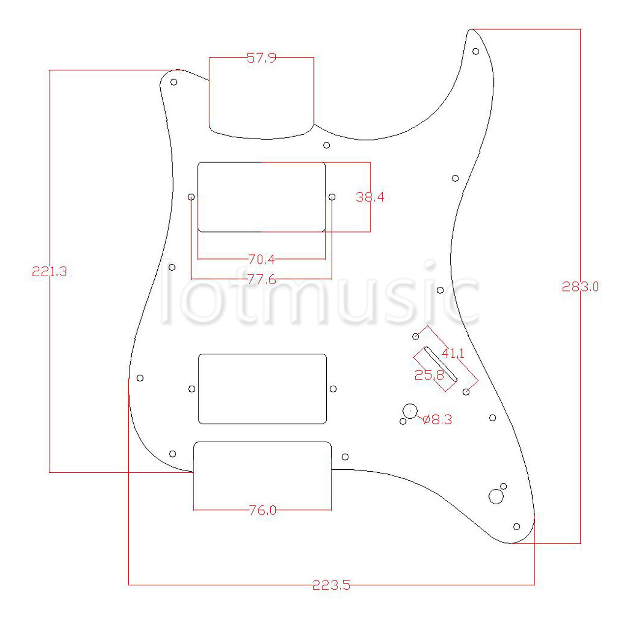 4 Prewired Loaded Hh Pickguard Humbucker Pickup For Fender