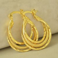 Womens Clip On Earring Yellow Gold Filled Round vintage ...