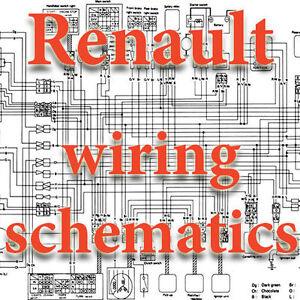 RENAULT WIRING DIAGRAMS SCHEMATICS ELECTRIC | eBay