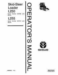 NEW HOLLAND L250 L255 SKID-STEER LOADER OPERATORS