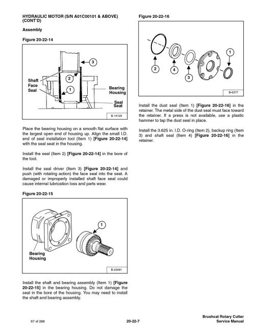 small resolution of bobcat brushcat rotary cutter repair service manual 6900883 for sale online ebay