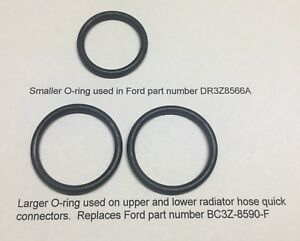Replacement O-Rings for Ford DR-3Z8566-A and 2x BC3Z-8590