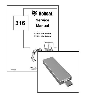 New Bobcat 316 Excavator Workshop Service Repair Manual
