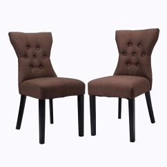 Tufted Dining Room Chairs John Deere Rocking Chair Cushion Set Of 2 Modern Armless Design Living