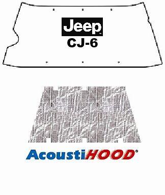 1955 1972 Jeep CJ 5/6 Under Hood Cover with J-026 JEEP CJ