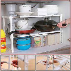 Kitchen Organizer Denver Hickory Cabinets Under Sink Shelf Storage Unit Space Saving Tidy Image Is Loading