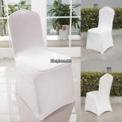 Universal Banquet Chair Covers Herman Miller Mirra 300pcs White Polyester Spandex Wedding Flat Image Is Loading