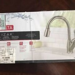 Delta Izak Kitchen Faucet Marble Backsplash 19939 Ss Dst Pull Down Sprayer In Image Is Loading