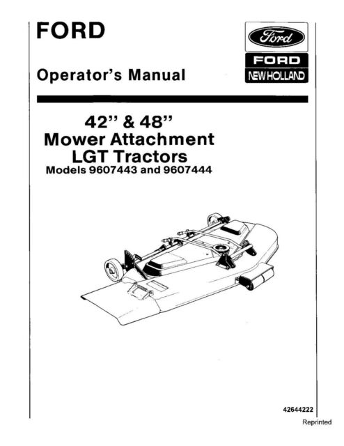 NEW HOLLAND Ford 42 and 48 Inch Mower Attachment LGT