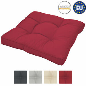 details about lounge cushion rattan garden chair patio furniture seat pad 60 x 60 x 10 cm red
